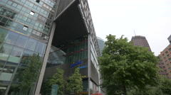 Entrance to the Sony Center in Berlin Stock Footage