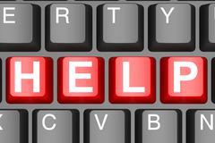 Help button on modern computer keyboard - stock illustration