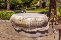 egyptian column pedestal - stock photo