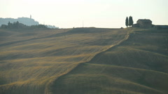 Landscape in Tuscany, Italy, Europe - stock footage