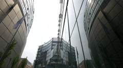 Glass buildings at the Sony Center Plaza, Berlin Stock Footage