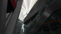 View of the Sony Center Plaza's dome in Berlin Stock Footage