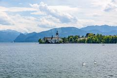Stock Photo of Castle Ort, Gmunden, view from promenade