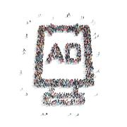 group  people shape  addition - stock illustration