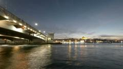 Time lapse video in Istanbul Turkey Stock Footage