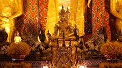 Stock Video Footage of buddha inside Wat Chedi Luang temple