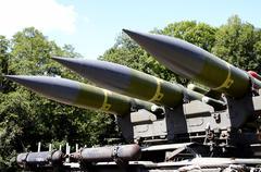 Flak rocket system  - stock photo