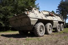 armour conveyer - stock photo
