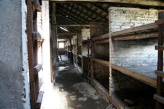 Concentration camp Oswiecim, Auswitz - stock photo