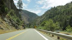 Feather River Highway drivelapse, California Stock Footage
