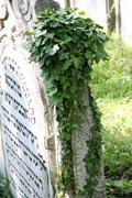 jewish tomb stone - stock photo