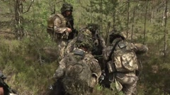 Latvian Army going through a Situational Training Exercise in Saber Strike. Stock Footage