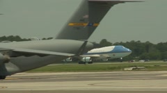 President Barack Obama  with First Lady Michelle Obama  at Joint Base Charleston - stock footage