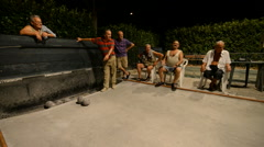 Bocce ball, Colle di Val d'Elsa, Tuscany, Italy Stock Footage