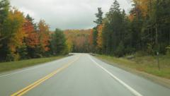 Autumn foliage on Kancamagus Highway, New Hampshire Stock Footage