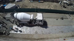 Timelapse of engineering progress of constructing a basketball court Stock Footage