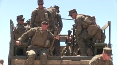 Soldier on a patrol training mission Stock Footage