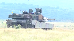 Military Tank operations, Operation Speed and Power Stock Footage