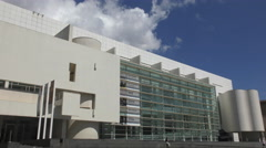 Timelapse 4K of The MACBA Barcelona The Museum of Contemporary Art Stock Footage