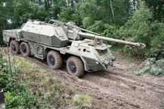 Armoured howitzer Stock Photos