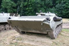 Combat vehicle foot - soldiers Stock Photos
