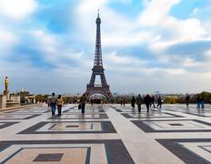 Eiffel Tower, Paris from the Palais de Chaillot Stock Photos