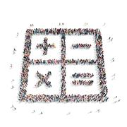 group  people  shape  mathematical signs - stock illustration