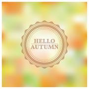 Blurred autumn background, vector illustration. Stock Illustration
