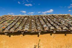 Stock Photo of Old Roof Shed Adobe