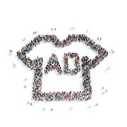 Group  people shape  addition Stock Illustration