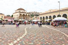 Monastiraki Square in Athens, Greece Stock Photos