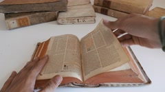 Browse old dictionary - Book  - 4k Stock Footage