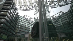 The modern architecture of Sony Center in Berlin Stock Footage