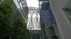 The dome of Sony Center in Berlin Stock Footage