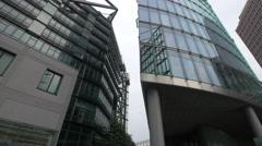 Buildings near the Sony Center Plaza in Berlin Stock Footage