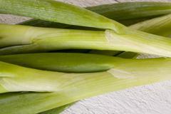 Stock Photo of Bunch of fresh leeks or scallions