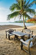Stock Photo of Cafe on tropical beach