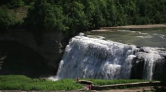 Middle Falls Letchworth State Park Stock Footage