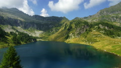 Campo Lake in Italian Alps, Ultra HD common view - stock footage