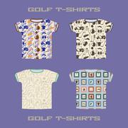 Golf t-shirt template vector illustration. - stock illustration