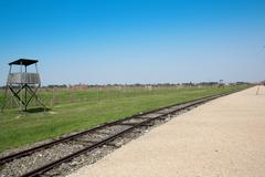 Concentration camp Oswiecim - stock photo