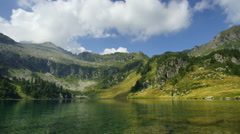 Campo Lake in Italian Alps,  Ultra HD common view close to water Stock Footage