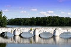 old bridge Stara Hlina Czech republic - stock photo