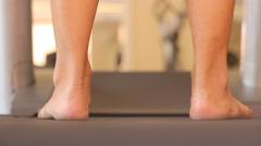 Man walking on treadmill cardio workout Stock Footage