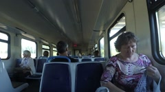 In an electric railway Stock Footage