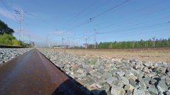 A train passes by Stock Footage