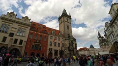 Prague Astronomical Clock in Prague. 4K. Stock Footage