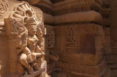 Statue it jain temple, Jaisalmer, India - stock photo