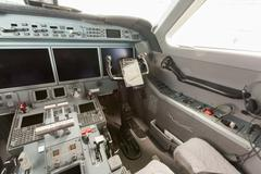 Inside view Cockpit G550 - stock photo