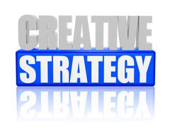 Creative strategy - letters and block Stock Illustration